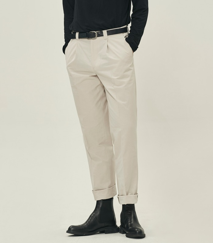 IVORY Semi-Wide Trousers [Official SALE 15%]