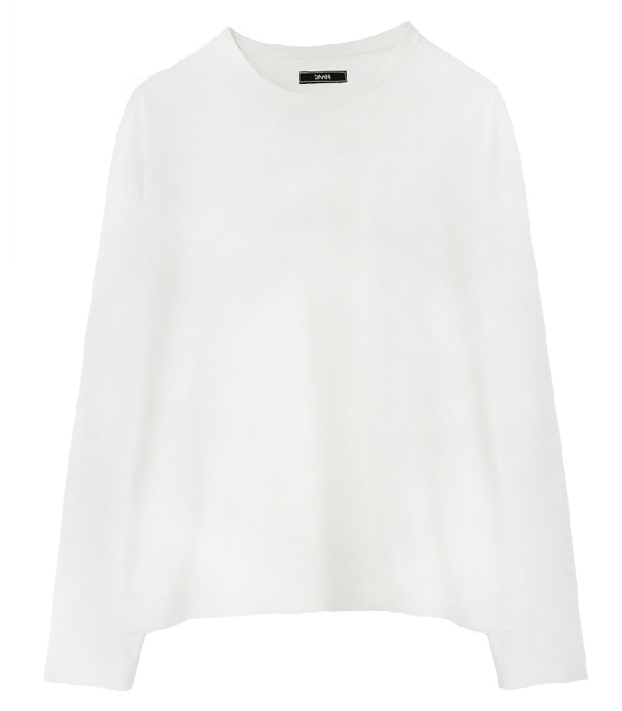 LIGHT IVORY Oversized Box Drop Long Sleeves [SALE 50%]