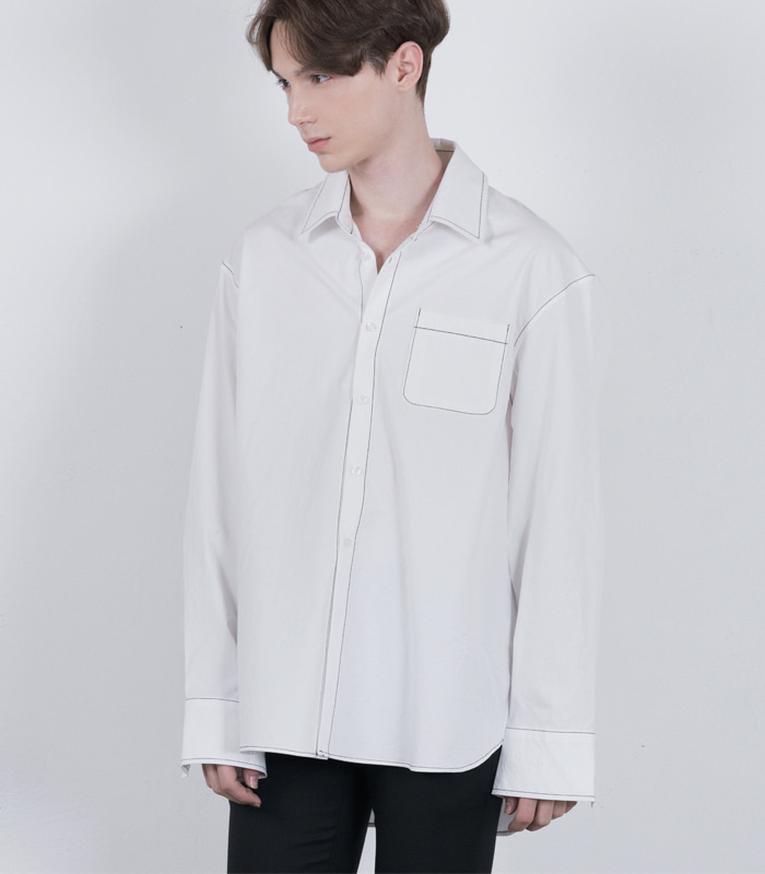 OFF WHITE Stitch Point Long Shirts [New Arrival SALE 10%]