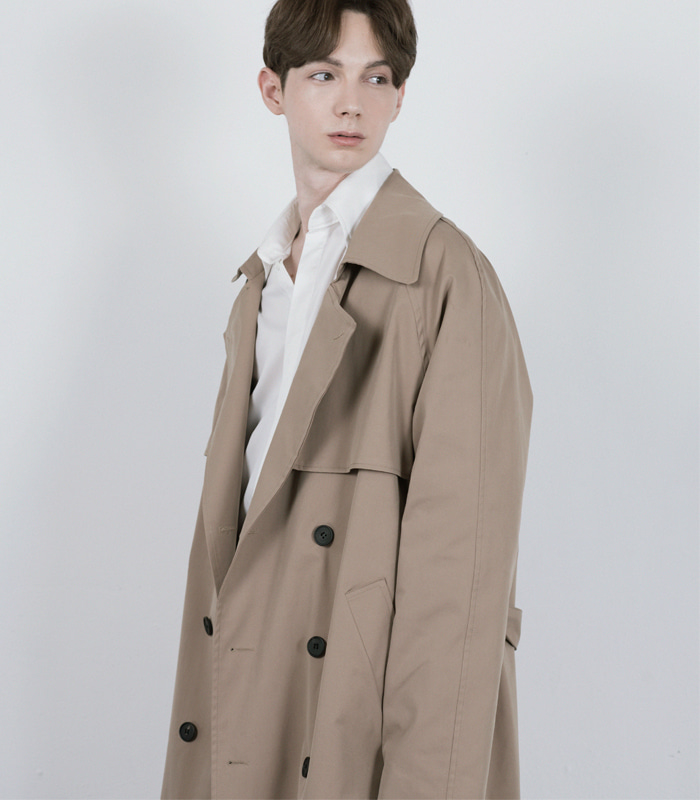 DARK BEIGE Oversized Raglan Trench Coat [1차 리오더 입고완료] [공홈 단독 35% SEASON OFF SALE]